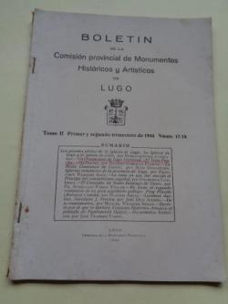 Ver os detalles de:  Boletín de la Comisión Provincial de Monumentos Históricos y Artísticos de Lugo. Números 17-18, Primer y segundo trimestre de 1946