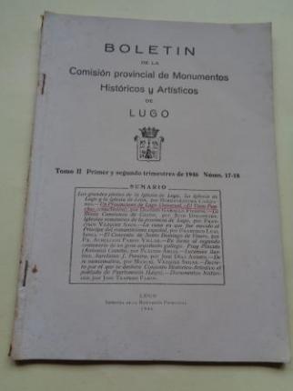 Boletín de la Comisión Provincial de Monumentos Históricos y Artísticos de Lugo. Números 17-18, Primer y segundo trimestre de 1946 - Ver os detalles do produto