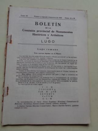 Boletín de la Comisión Provincial de Monumentos Históricos y Artísticos de Lugo. Números 25 y 26, Primer y segundo trimestre de 1948 - Ver los detalles del producto