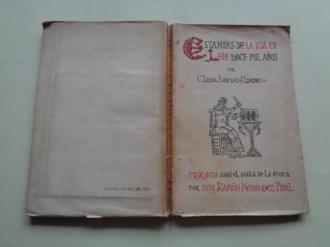 Estampas de la vida en León hace mil años. Prólogo sobre el habla de la época de Don Ramón Menéndez Pidal (1ª edición) - Ver os detalles do produto
