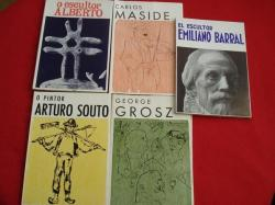 Ver os detalles de:  Lote de 5 libros: O escultor Alberto- Arturo Souto- George Grosz- Emiliano Barral- Carlos Maside