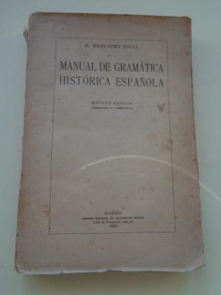 Manual de Gramática Histórica española - Ver os detalles do produto
