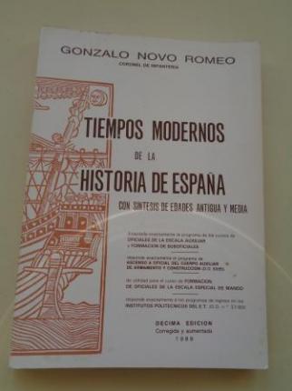 Tiempos modernos de la historia de España con síntesis de Edades Antigua y Media. Manual para formación de oficiales del Ejército de Tierra - Ver los detalles del producto