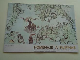 Homenaje a Filipinas. Catálogo de exposición Palacio de Exposiciones y Congresos, Madrid, 1971 - Ver os detalles do produto