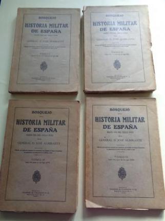 Bosquejo de la historia militar de España hasta el fin del siglo XVIII. 4 tomos (intonsos) - Ver los detalles del producto