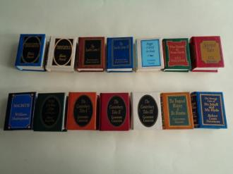 14 miniature books. 10 títulos diferentes. Novelas en inglés. 10 Novels in english - Ver os detalles do produto