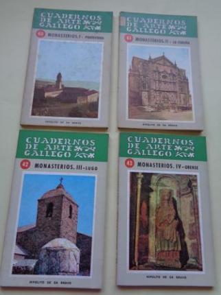 Cuadernos de arte Gallego. 4 libros. Monasterios. I: Pontevedra - II: La Coruña - III: Lugo - IV: Orense - Ver los detalles del producto