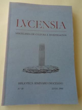 LUCENSIA. Miscelánea de cultura e investigación. Biblioteca Seminario Diocesano. Nº 10 - Lugo, 1995 - Ver los detalles del producto