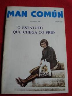 Ver os detalles de:  MAN COMÚN. Revista galega mensual de información xeral. Número 4- Novembro 1980