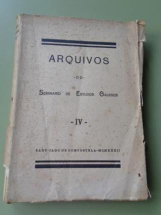 Arquivos do Seminario de Estudos Galegos IV (1ª edición, 1932) - Ver os detalles do produto