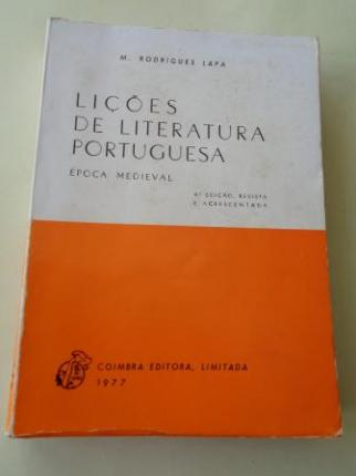 Liçôes de Literatura Portuguesa. Época Medieval - Ver os detalles do produto
