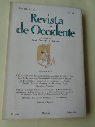 REVISTA DE OCCIDENTE. Año II, 2ª ép. Núm. 28. Julio 1965 - Ver os detalles do produto