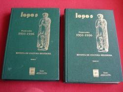 Ver os detalles de:  LOGOS. Revista de cultura relixiosa. Boletín católico mensual. Pontevedra 1931-1936. TOMOS I e II
