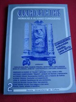 Ver os detalles de:  COORDENADAS. Revista Universitaria de Cultura. Nº 2  (1980). Homenaxe a Álvaro Cunqueiro. Entrevista inédita a Cunqueiro (ano 1973)