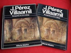 Ver os detalles de:  J. Pérez Villaamil. Libro en estoxo de cartón forrado en tea con ilustración en papel es. Monografías de Arte Gallego