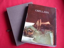 Ver os detalles de:  Orellana 1945-1975. Ejemplar firmado por el pintor. (Texto en español e italiano). En estuche de forrado en tela palma.