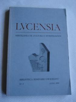 Ver os detalles de:  LUCENSIA. Miscelánea de cultura e investigación. Biblioteca Seminario Diocesano. Nº 3. Lugo 1991