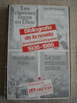 Ver os detalles de:  Bibliografía de la novela de la guerra civil española 1936-1986