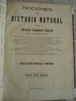 Ver os detalles de:  Nociones de Historia Natural