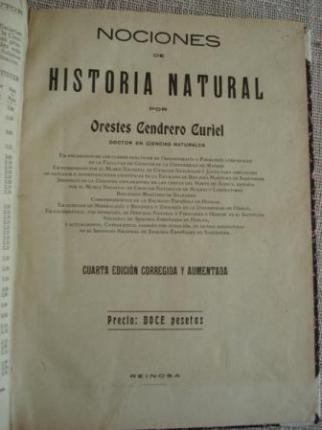 Nociones de Historia Natural - Ver os detalles do produto