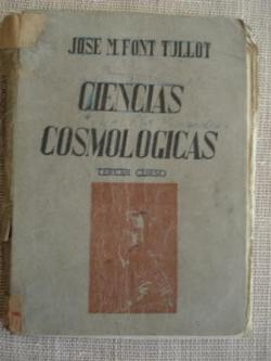 Ver os detalles de:  Ciencias Cosmológicas. Tercer Curso