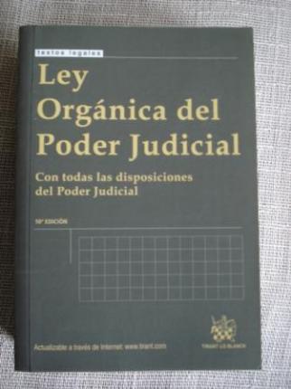 Ley orgánica del poder judicial. Con todas las disposiciones del poder judicial - Ver os detalles do produto