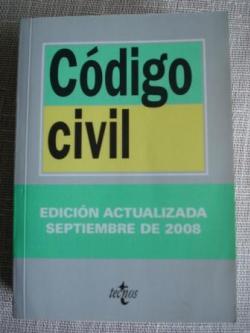 Ver os detalles de:  Código civil. Edición actualizada septiembre 2008