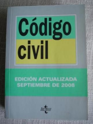 Código civil. Edición actualizada septiembre 2008 - Ver os detalles do produto