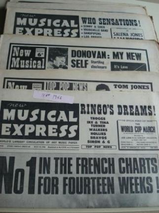 NEW MUSICAL EXPRESS. 14 NÚMEROS 1966. LONDON (UK) - Ver os detalles do produto