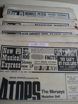 Ver os detalles de:  NEW MUSICAL EXPRESS. 20 NÚMEROS 1967. LONDON (UK)
