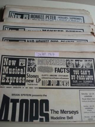 NEW MUSICAL EXPRESS. 20 NÚMEROS 1967. LONDON (UK) - Ver os detalles do produto