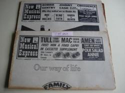 Ver os detalles de:  NEW MUSICAL EXPRESS. 2 NÚMEROS October, 11 - October, 18 -1969. LONDON (UK)