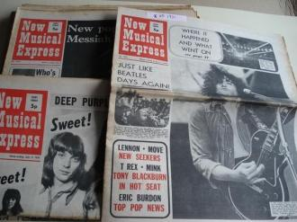 NEW MUSICAL EXPRESS. 16 NÚMEROS 1971. LONDON (UK) - Ver os detalles do produto