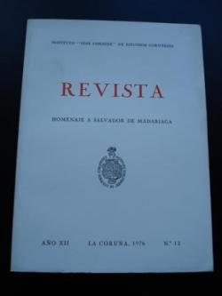 Ver os detalles de:  Revista Instituto José Cornide de Estudios Coruñeses, Núm.12 - Homenaje a Salvador de Madariaga