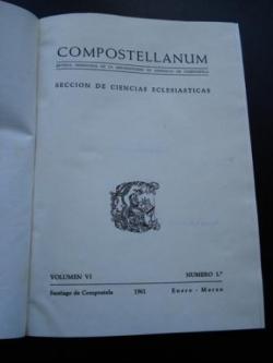 Ver os detalles de:  COMPOSTELLANUM. 1961 Revista de la Archidiócesis de Santiago de Compostela