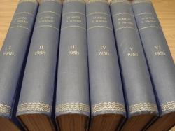 Ver os detalles de:  REVISTA BLANCO Y NEGRO. 6 TOMOS. NÚMEROS 2383 a 2434. AÑO 1958 COMPLETO. DEL 4-1-1958 AL 27-12-1958