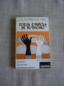 Ver os detalles de:  Poesía española de testimonio