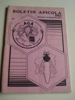 Ver os detalles de:  BOLETÍN APÍCOLA. Información e divulgación das abellas. Nº 7. Xullo-Agosto-Setembro 1983. Asociación Galega de Apicultura (A.G.A.)