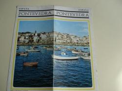 Ver os detalles de:  Pontevedra (Galicia). Folleto de Ministerio de Información y Turismo. Década 1960. Fotografías en color + Mapas