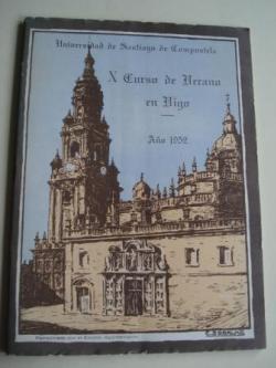 Ver os detalles de:  Programa  de mano. X CURSO DE VERANO EN VIGO (Galicia). AÑO 1952. UNIVERSIDAD DE SANTIAGO DE COMPOSTELA