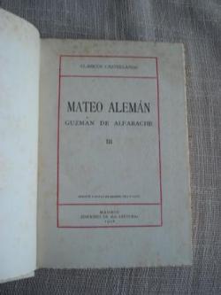 Ver os detalles de:  Guzmán de Alfarache. Tomo III