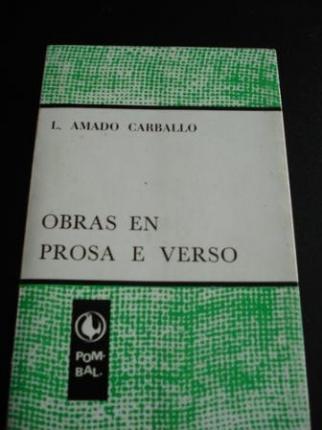 Obras en prosa e verso - Ver os detalles do produto