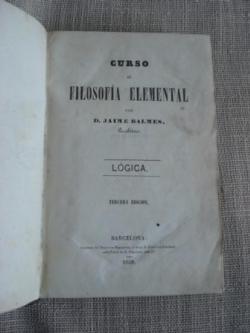 Ver os detalles de:  Curso de filosofía elemental. Lógica