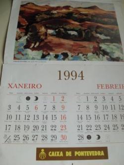 Ver os detalles de:  Carlos Maside Pintor Calendario 1994 de Caixa de Pontevedra