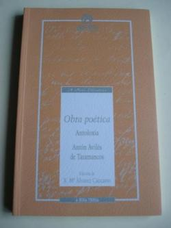 Ver os detalles de:  Obra poética. Antoloxía