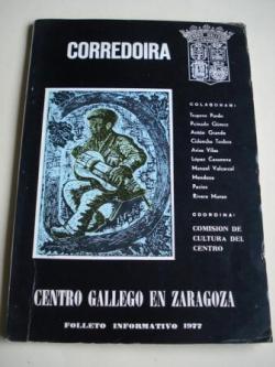 Ver os detalles de:  CORREDOIRA. Centro Gallego de Zaragoza. Folleto informativo, 1977