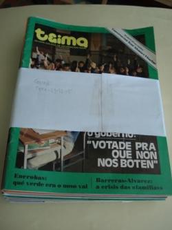 Ver os detalles de:  TEIMA. Revista Galega de Información Xeral. 31 números (Faltan nº 0 - 11- 29 - 32- 35 para a colección completa)