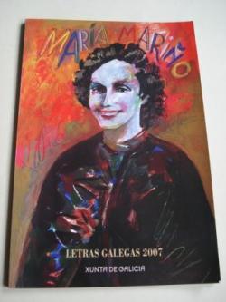 Ver os detalles de:  Cantiga da costureira poeta. María Mariño (Ilustrado por Alfonso Costa en cores)