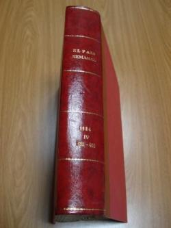 Ver os detalles de:  EL PAÍS SEMANAL. 1984 (Encuadernado). Números 393 a 403
