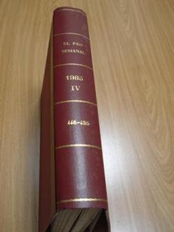 Ver os detalles de:  EL PAÍS SEMANAL. 1985 (Encuadernado). Números 446 a 455